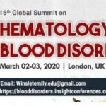 16th Global Summit on Hematology and Blood Disorders
